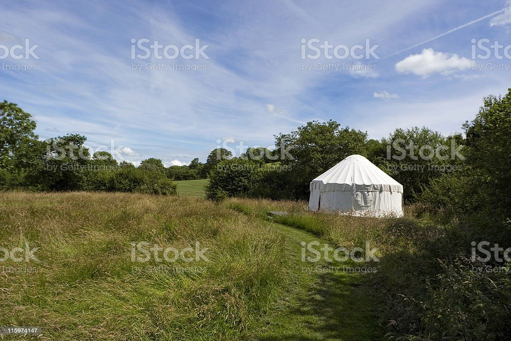Yurt In A Meadow royalty-free stock photo