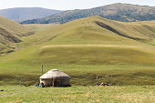 yurt in the mountains of Trans-Ili Alatau