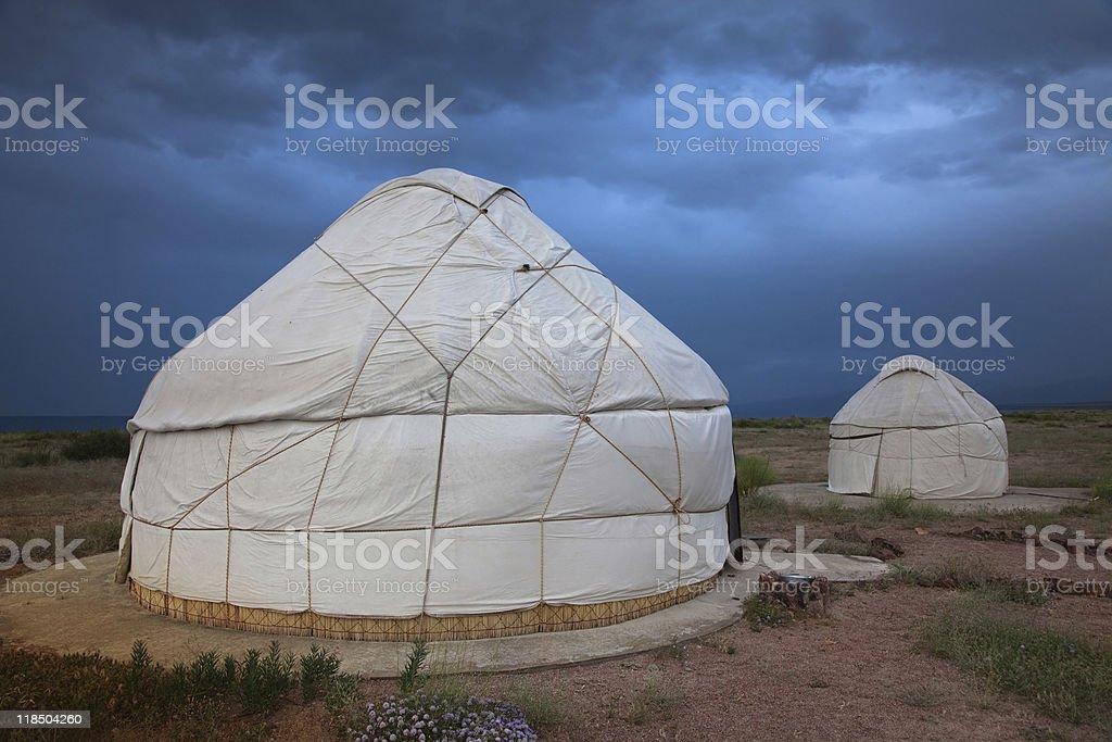 yurt stock photo