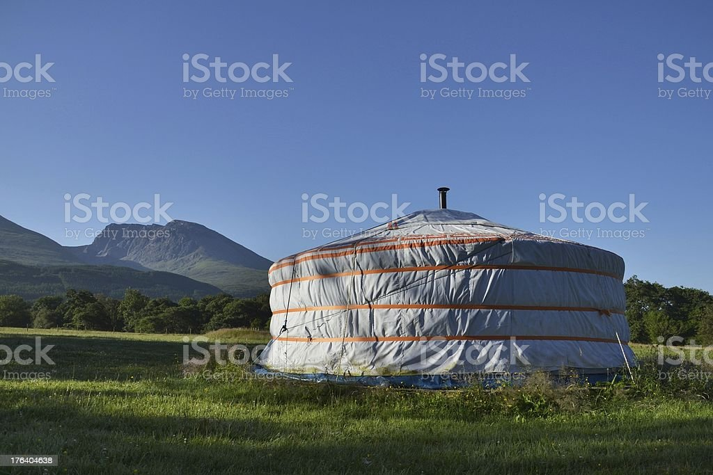 Yurt with Ben Nevis royalty-free stock photo