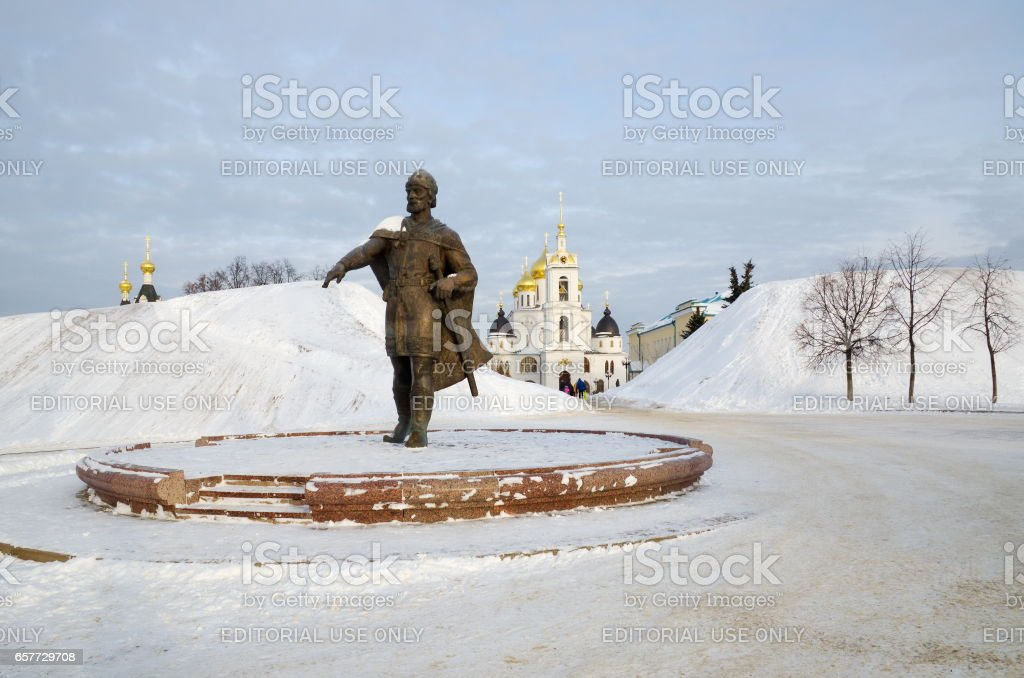 Yury Dolgoruky monument stock photo