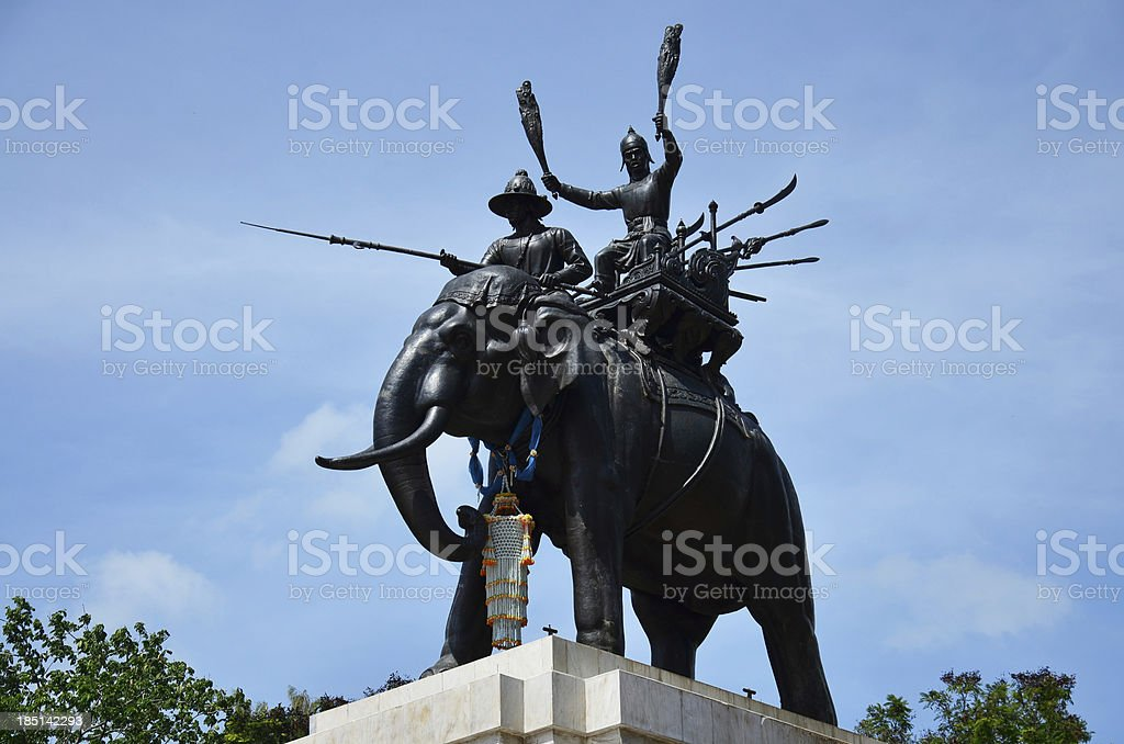 Yuthahuttee monument or Don Chedi war at Suphanburi royalty-free stock photo