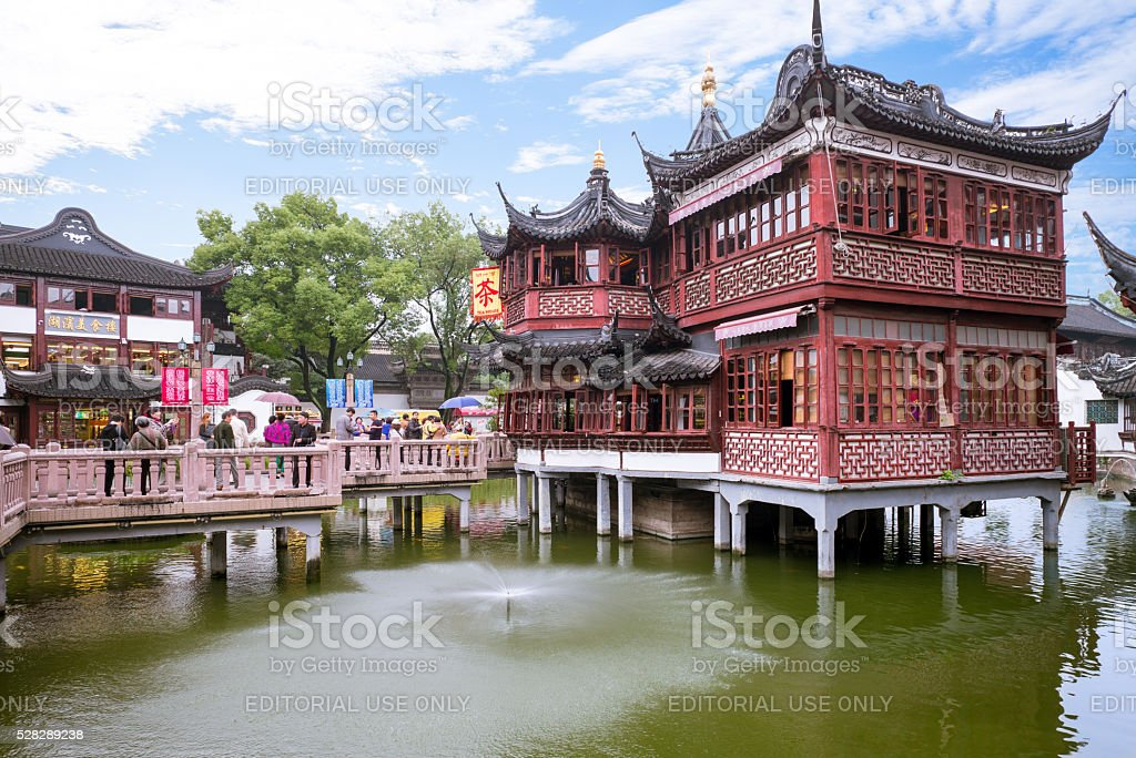 Yuyuan Garden Complex. stock photo