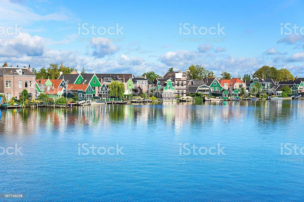 Zaanse Schans. Amazing Dutch village stock photo