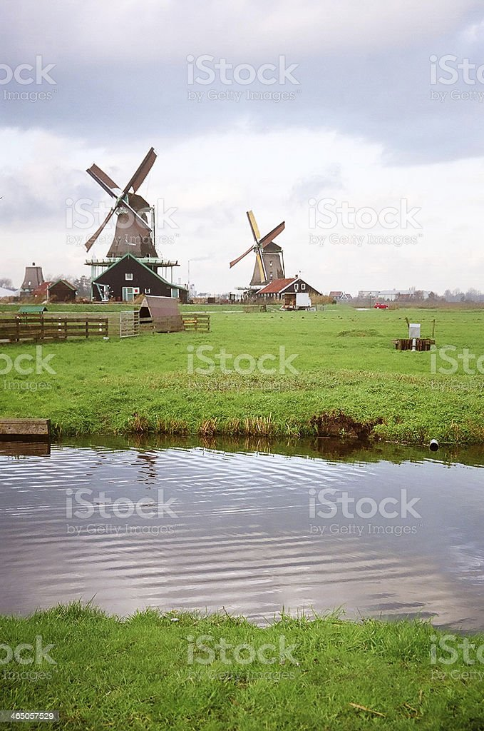 Zaanse Schans Windmill Park, Amsterdam, Netherlands royalty-free stock photo