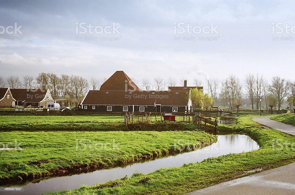 Zaanse Schans Windmill Park, Amsterdam, Netherlands royalty-free stock photo
