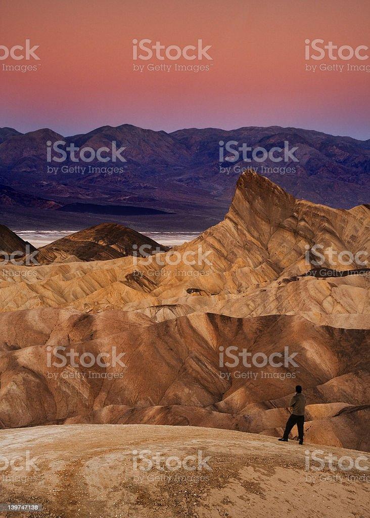 Zaberski Point - Death Valley National Park royalty-free stock photo