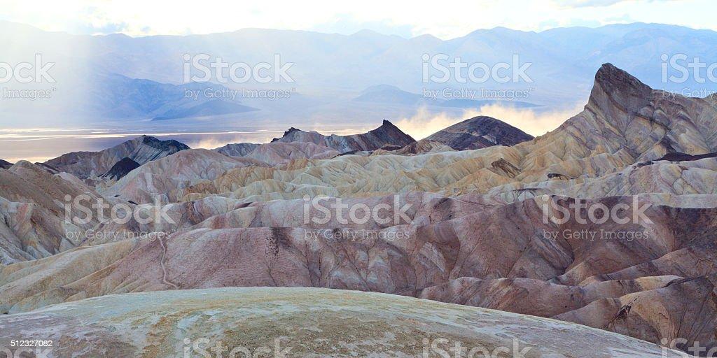 Zabriskie Dust Storm royalty-free stock photo
