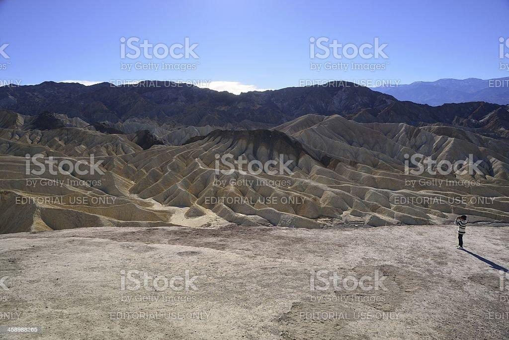 Zabriskie Point at Death Valley National Park royalty-free stock photo