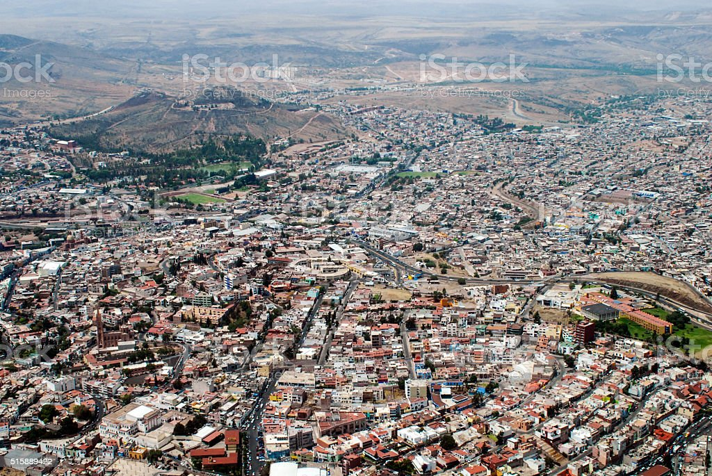 Zacatecas from The Air stock photo