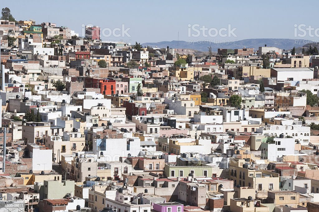 Zacatecas, word heritage site in Mexico stock photo