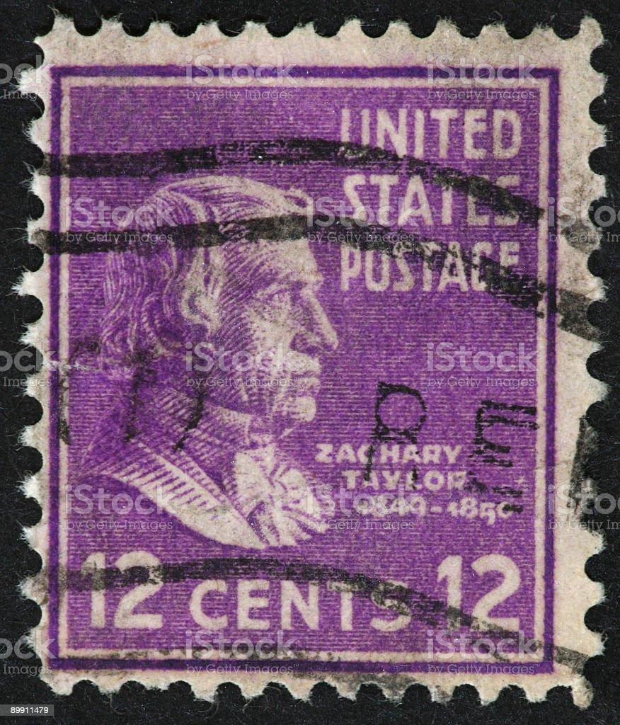 Zachary Taylor stamp 1938-43 stock photo