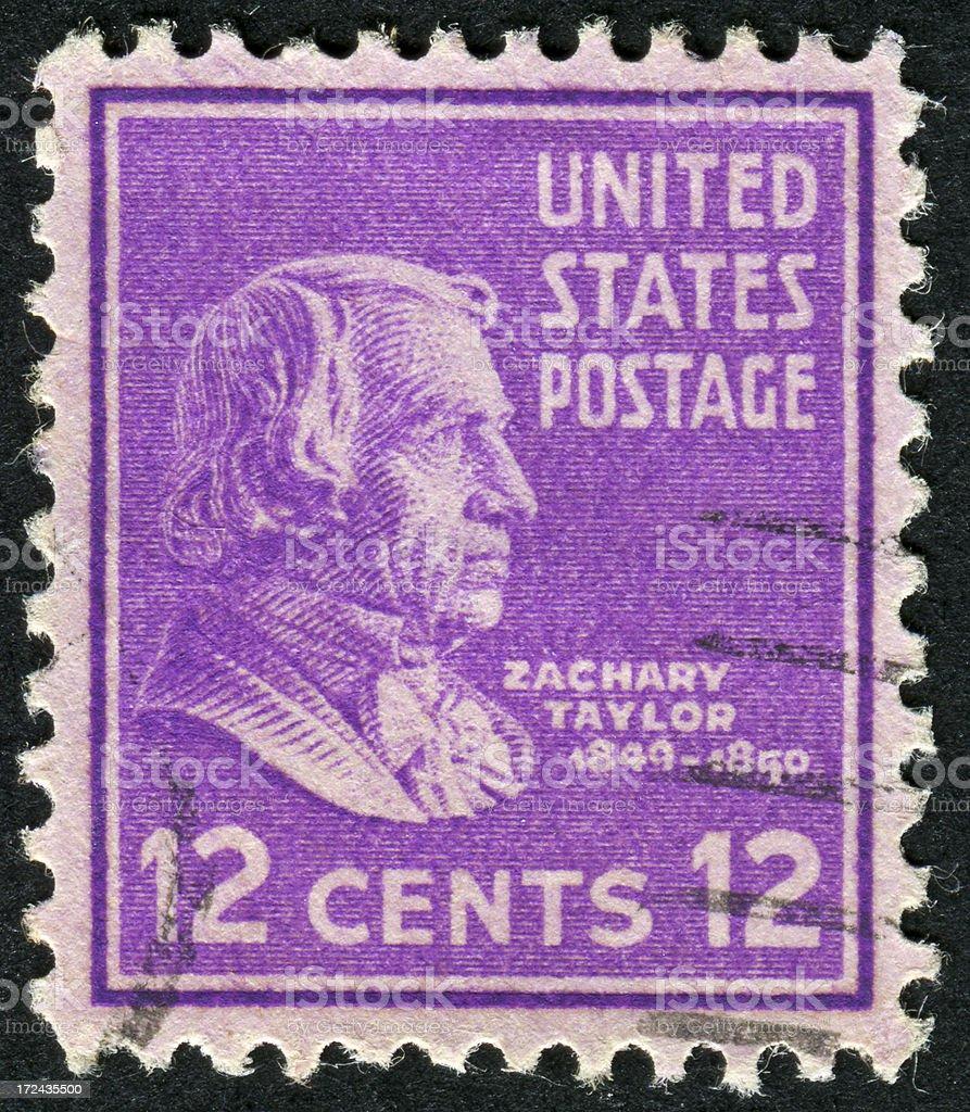 Zachary Taylor Stamp stock photo