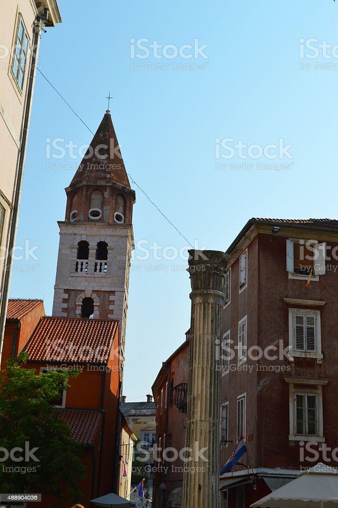 zadar alley en Croacia foto de stock libre de derechos