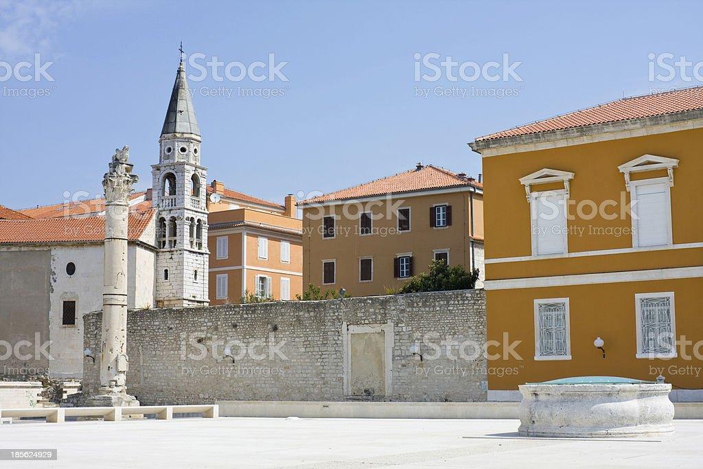 Zadar cityscape, Croatia, Dalmatia royalty-free stock photo