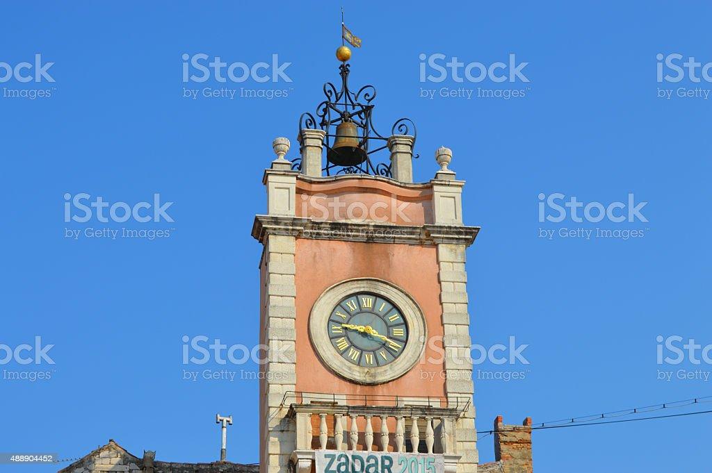Reloj zadar en Croacia foto de stock libre de derechos
