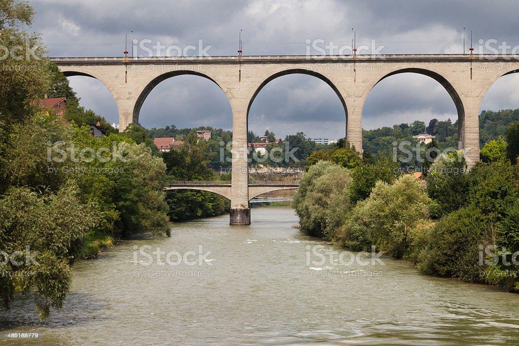 Zaehringen Bridge stock photo