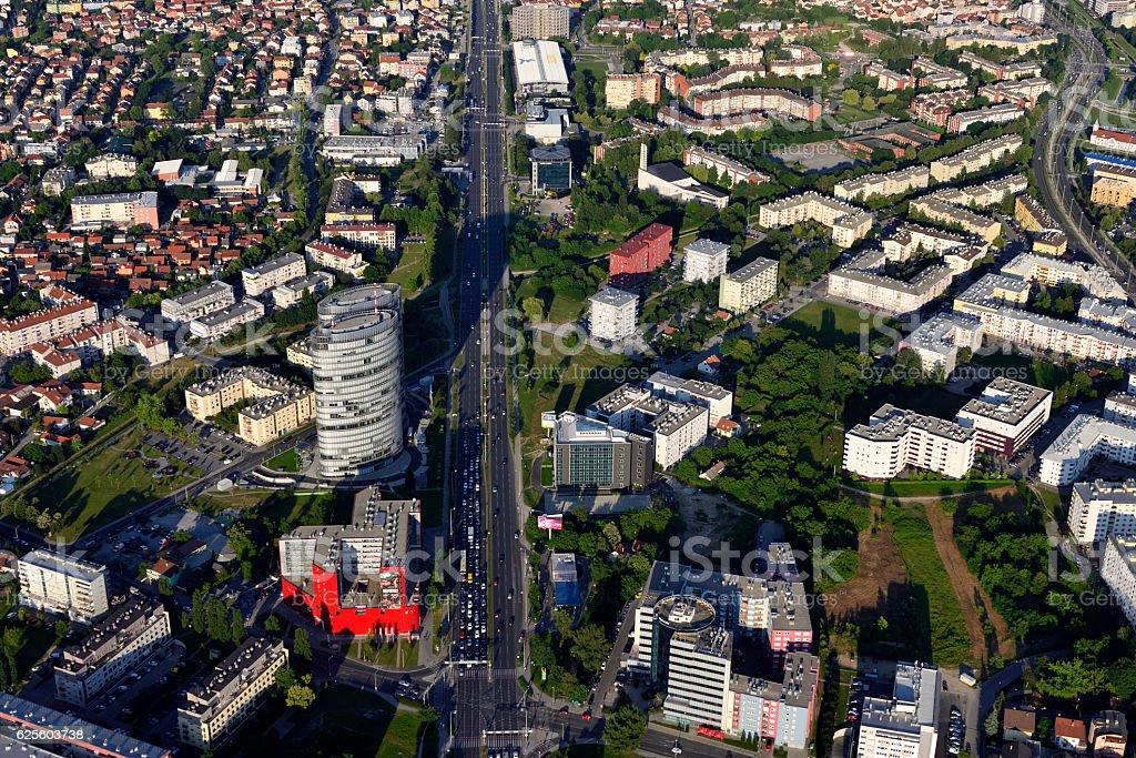 Zagreb avenue stock photo