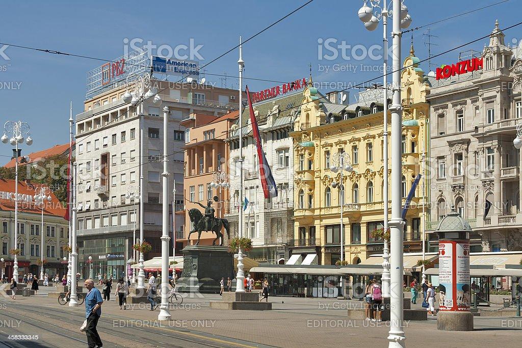 Zagreb central city square royalty-free stock photo