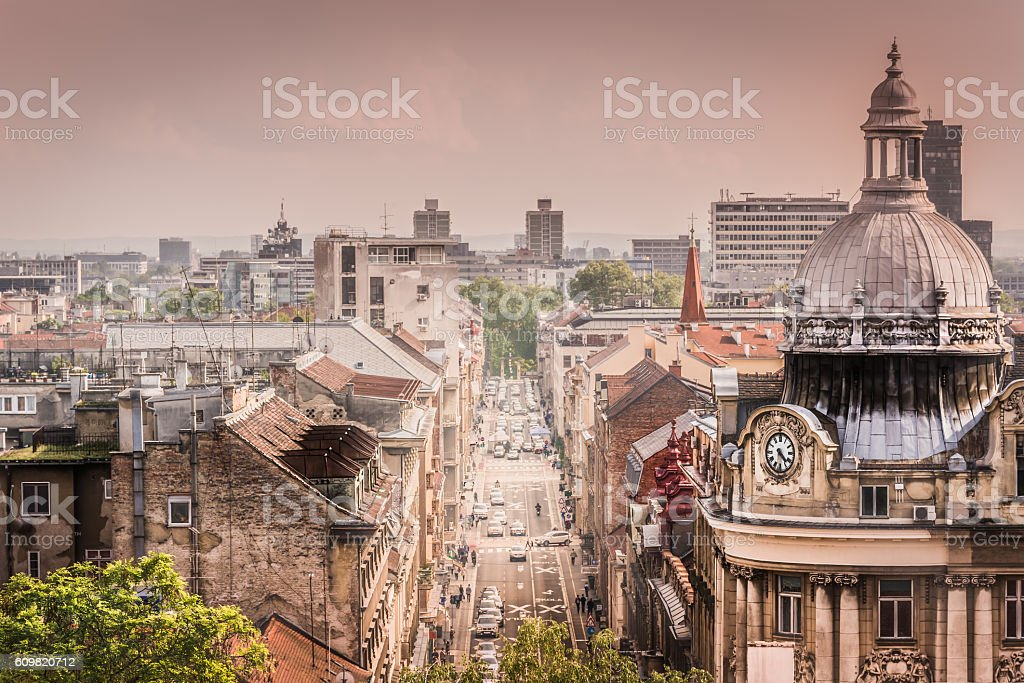 Zagreb city Croatia. stock photo