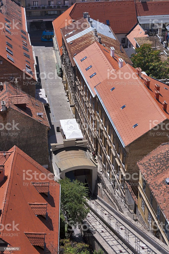 Zagreb funicular royalty-free stock photo