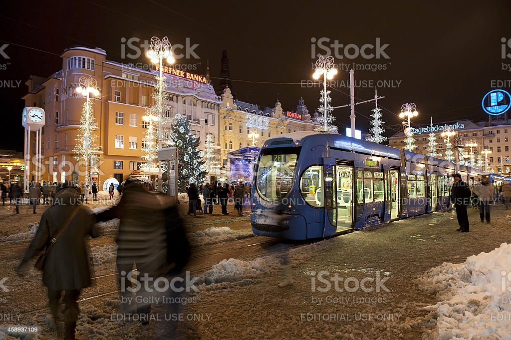 Zagreb main square royalty-free stock photo