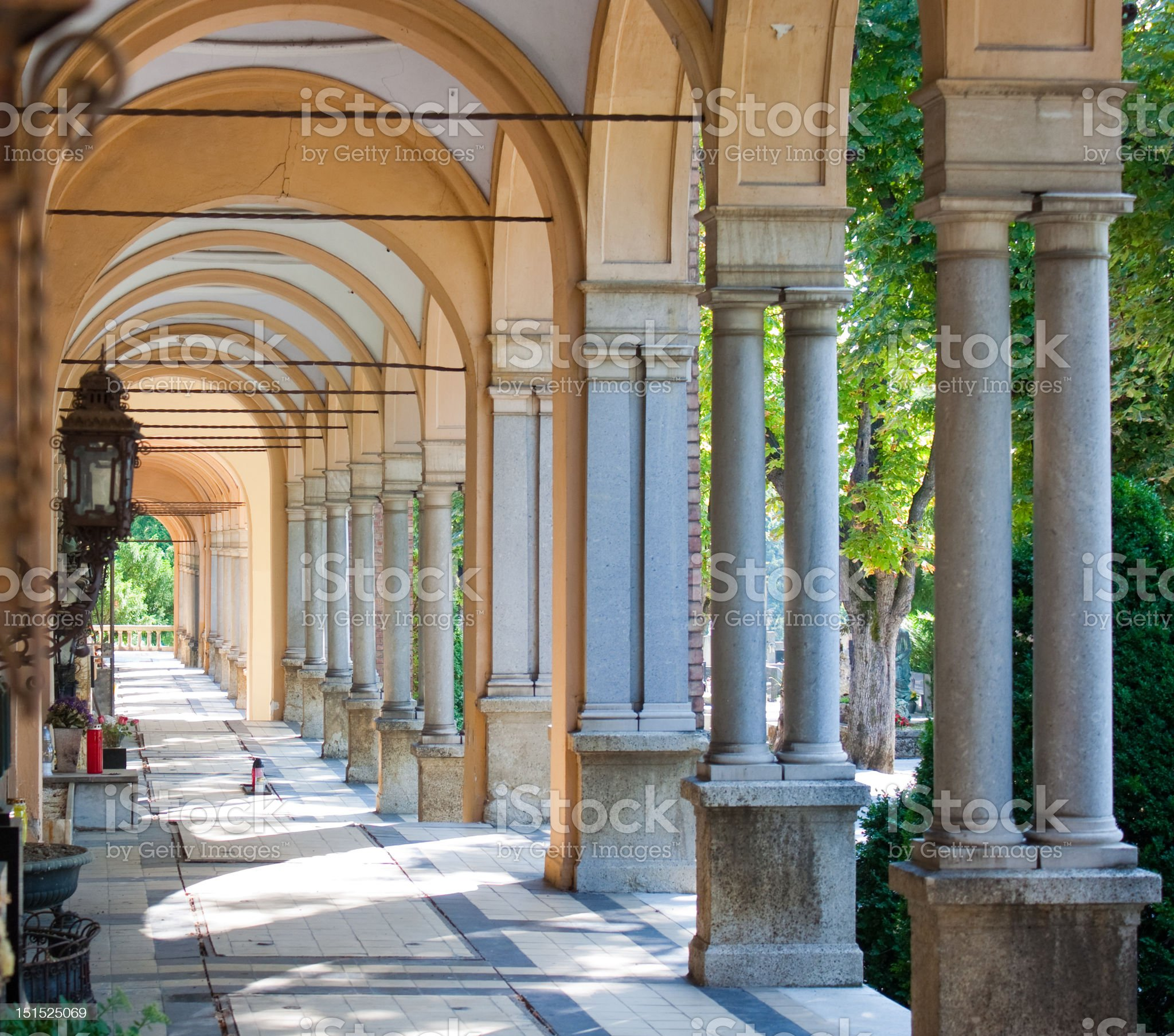 Zagreb Mirogoj cemetary royalty-free stock photo