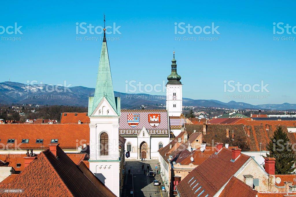 Zagreb Upper town stock photo
