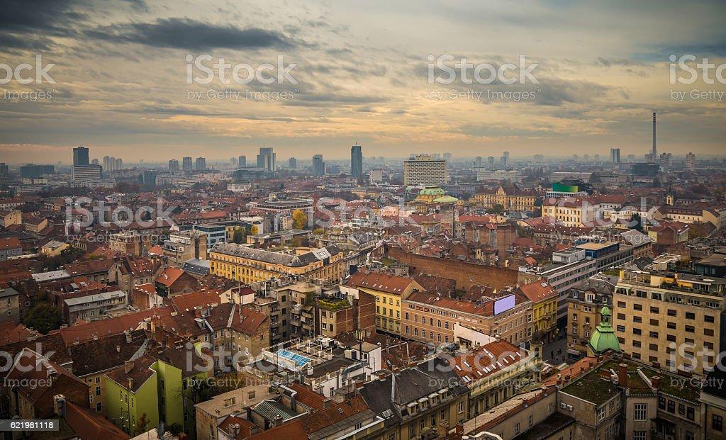 Zagreb-city scape stock photo