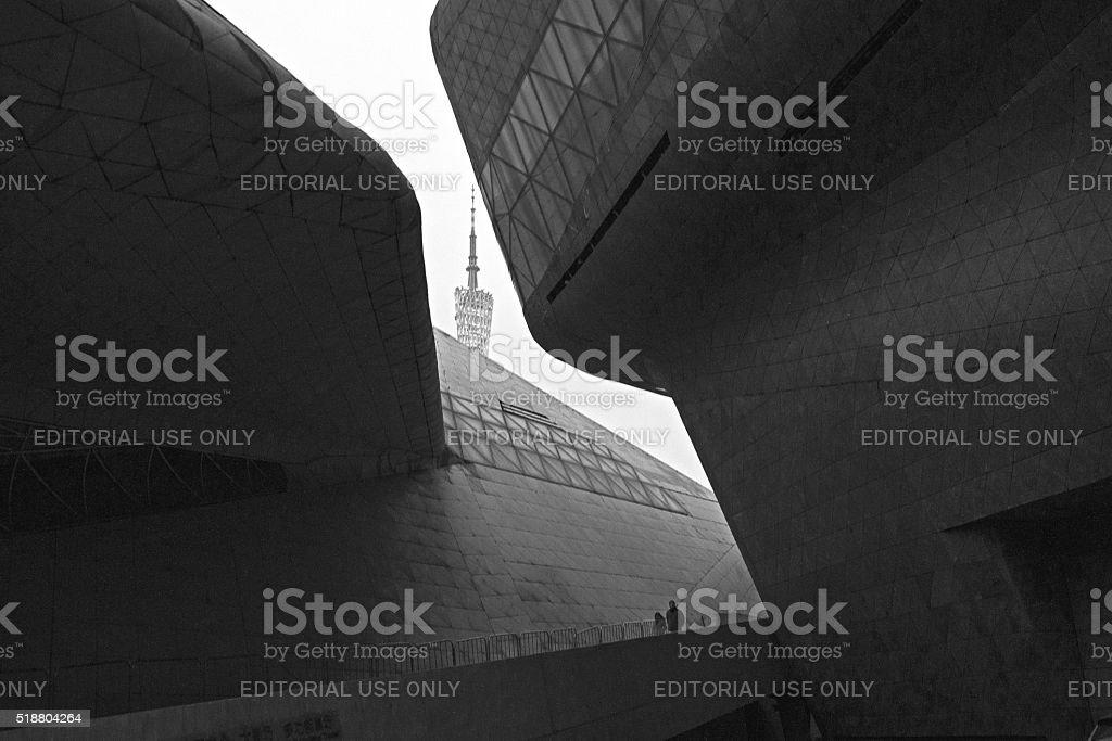 Zaha Hadid Guangzhou Opera House stock photo