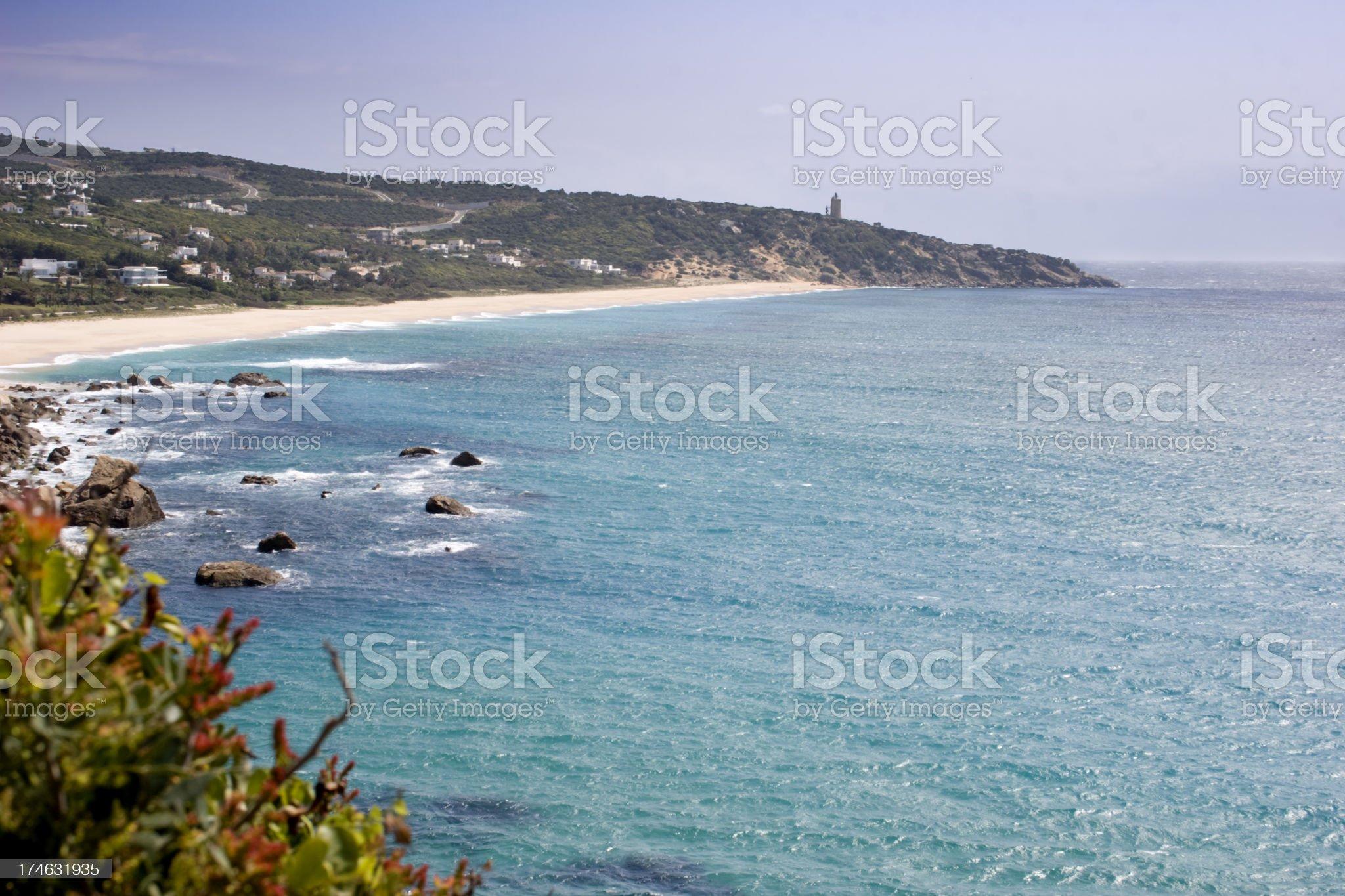 Zahara beach at Cadiz Province royalty-free stock photo