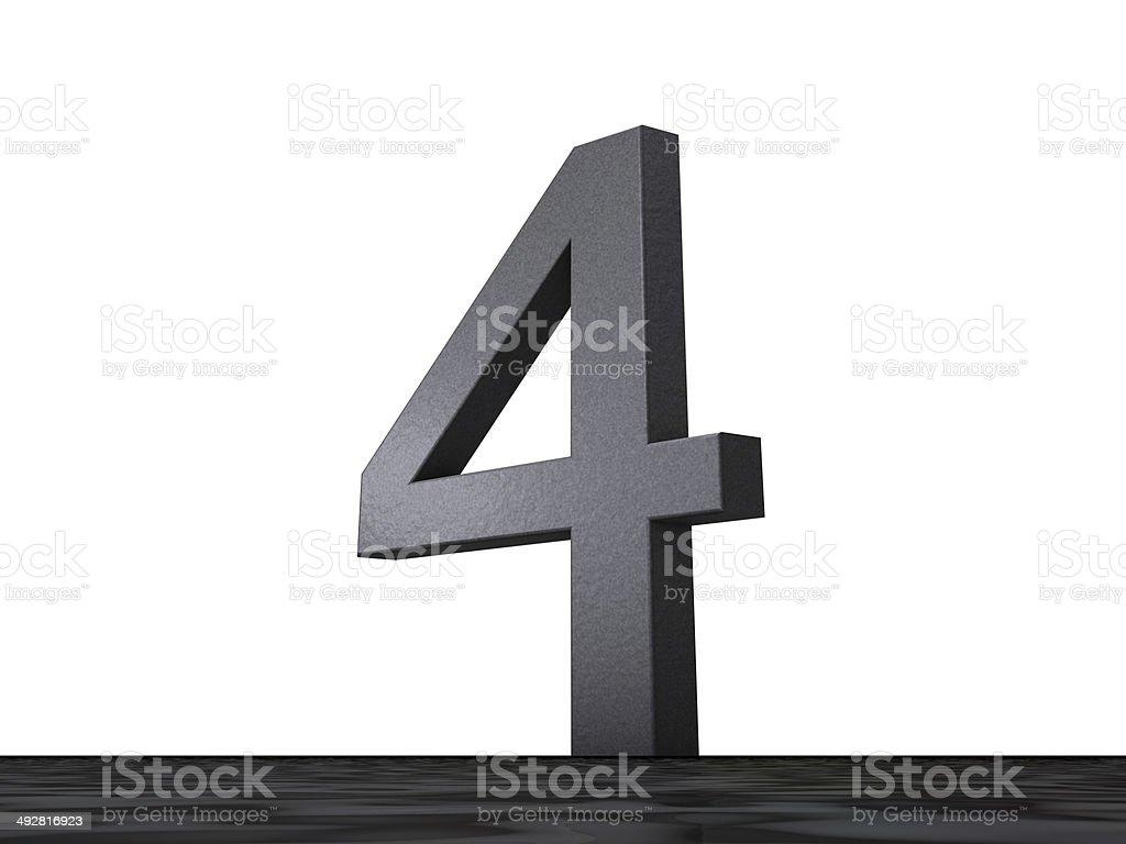 3D Zahl - 4 stock photo