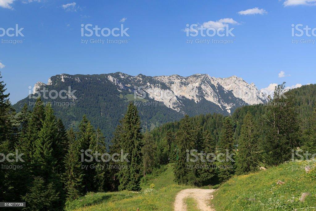 Zahmer Kaiser mountains stock photo