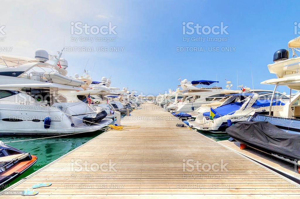 Zaitunay Bay in Beirut, Lebanon stock photo