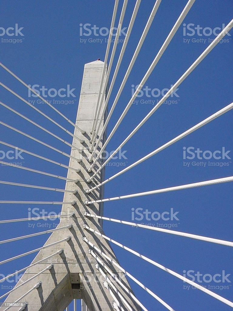Zakim Bridge 2 royalty-free stock photo