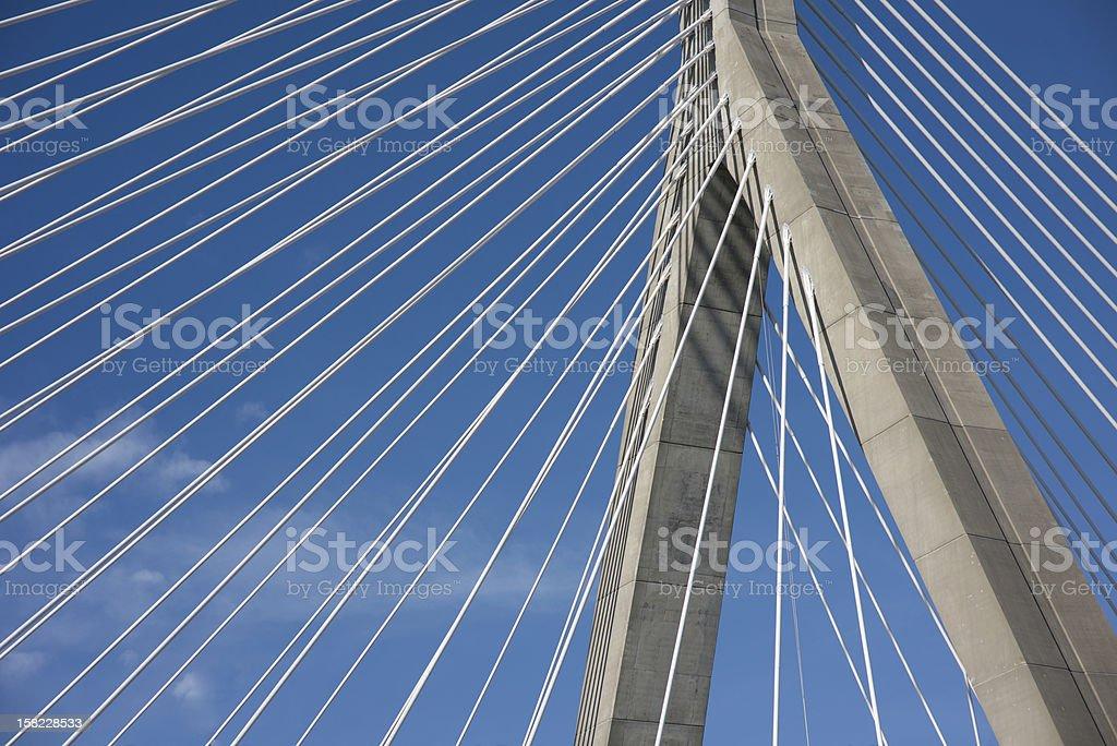 Zakim Bridge Boston Ma stock photo