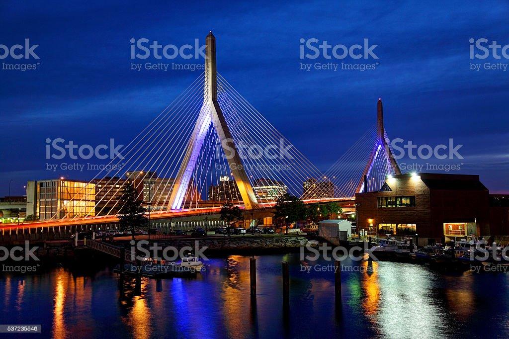 Zakim Bridge Boston stock photo