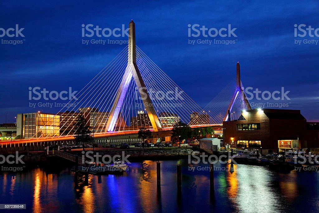 Zakim Bridge Boston stock photo