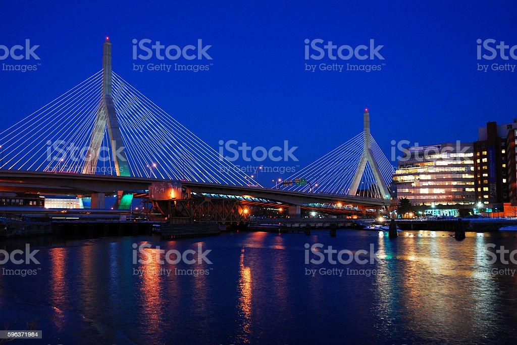 Zakim Bridge, Boston stock photo
