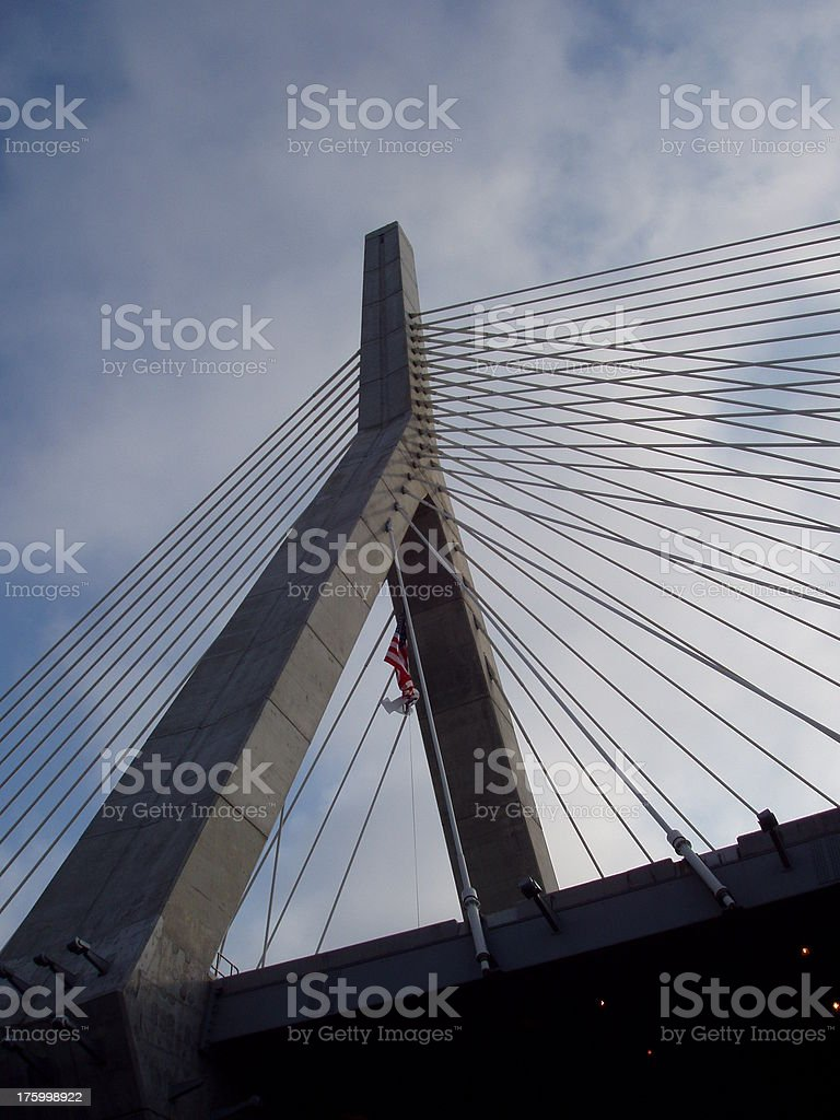 Zakim Bridge royalty-free stock photo