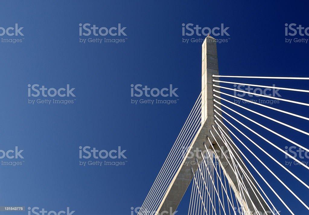 Zakim Bunker Hill Bridge Detail stock photo