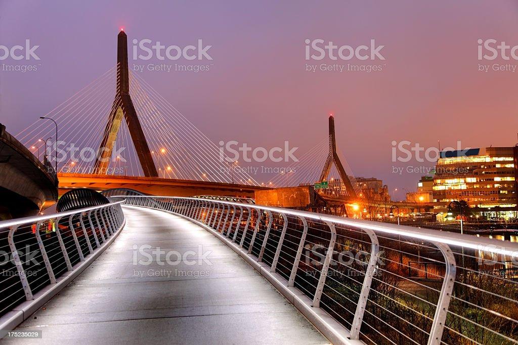 Zakim Bunker Hill Bridge stock photo