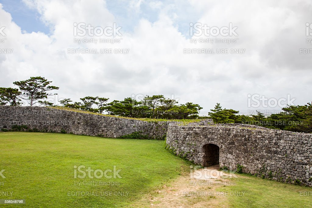 Zakimi Castle, in Yomitan area of Okinawa. stock photo