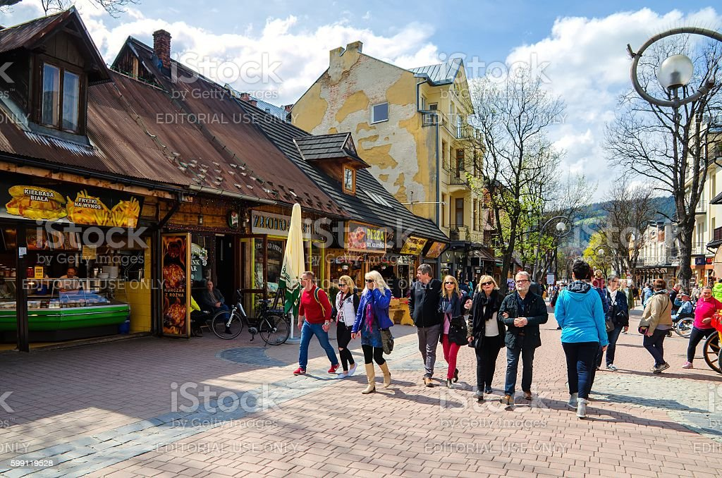 Zakopane Town in Poland. stock photo