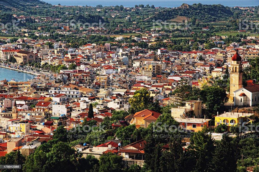 Zakynthos City Panorama stock photo