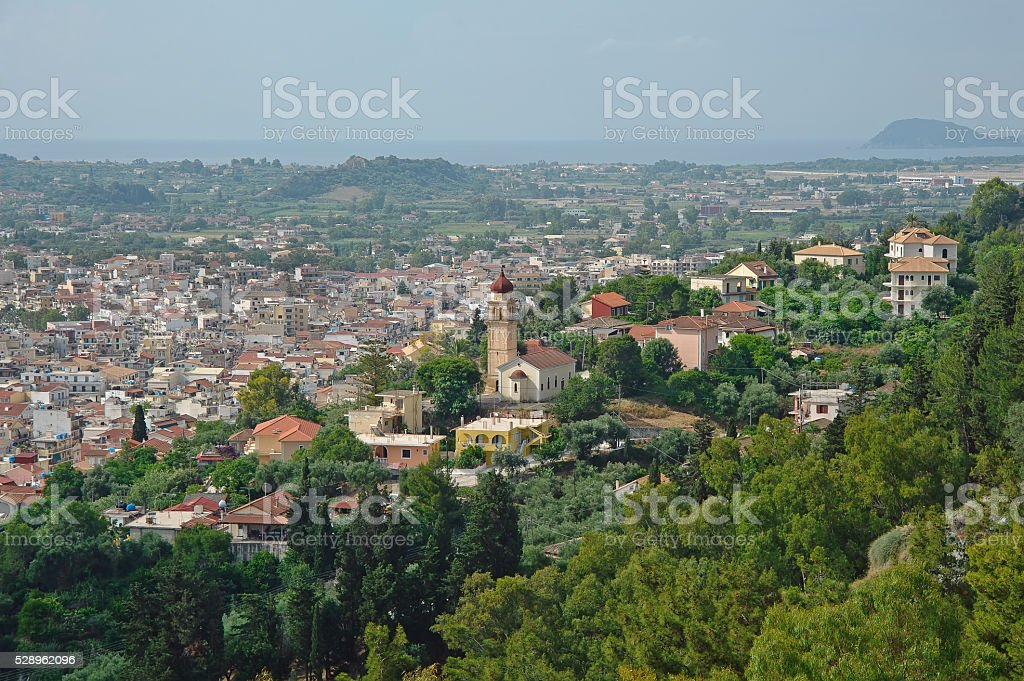 Zakynthos city, Zakynthos island, Greece stock photo
