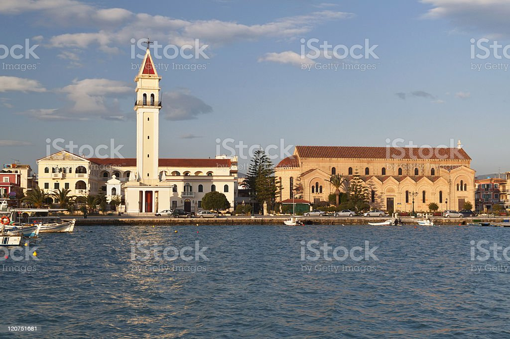 Zakynthos island at ionio sea in Greece stock photo