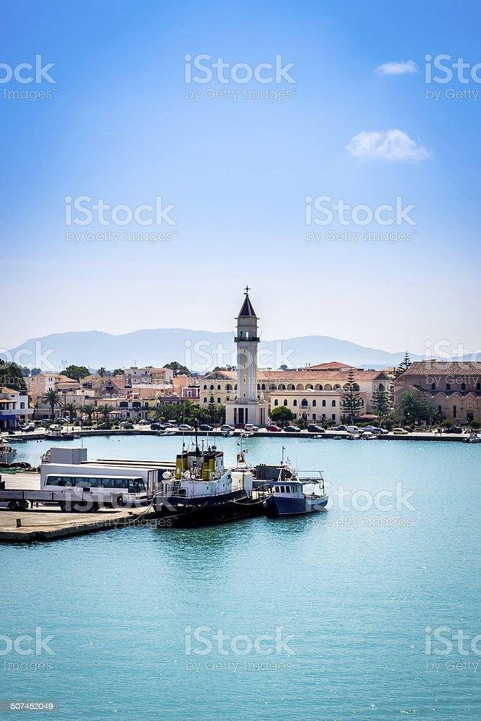 Zakynthos town stock photo