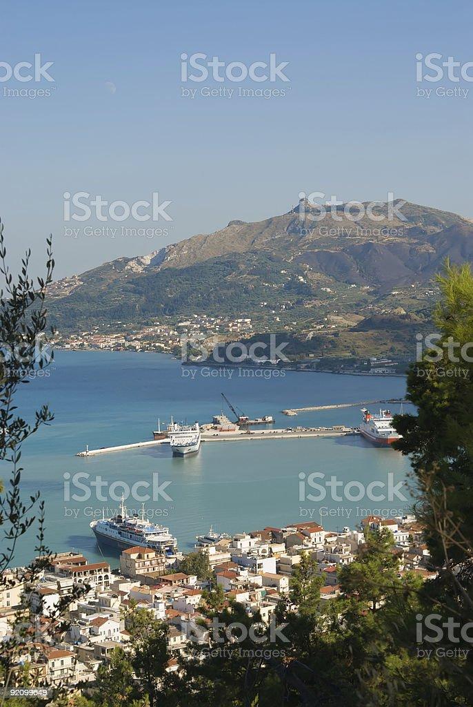 Zakynthos town royalty-free stock photo