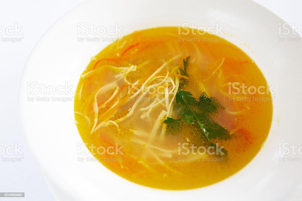 Zama soup moldavian stock photo